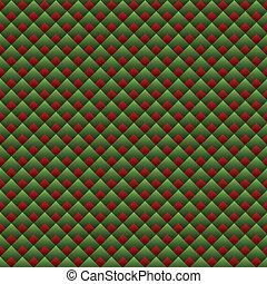 Weihnachten geometrisches rotes und grünes nahtloses Muster