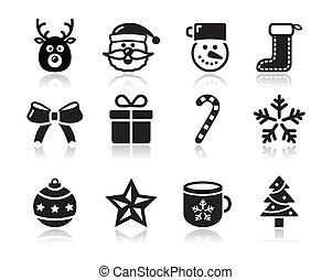 weihnachten, s, schwarz, schatten, heiligenbilder
