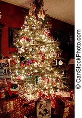 Weihnachtsbaum in der Nacht
