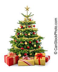 Weihnachtsbaum mit Geschenkkästen