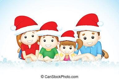 Weihnachtsfamilie.