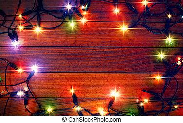 Weihnachtsfarbenlicht Hintergrund.