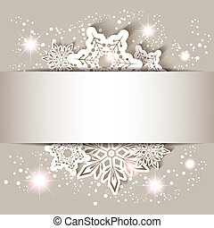 Weihnachtssterne Schneeflocke Grußkarte.