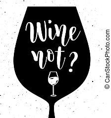 Wein nicht Vektorschreiben