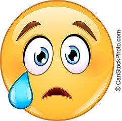 Weinende Gesichts-Emoticon.