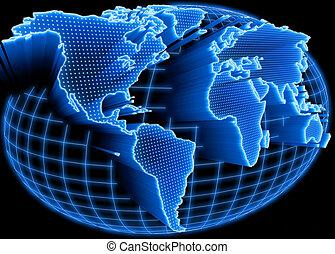 Weltkarte erleuchtet