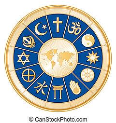 Weltkarte, Weltreligionen