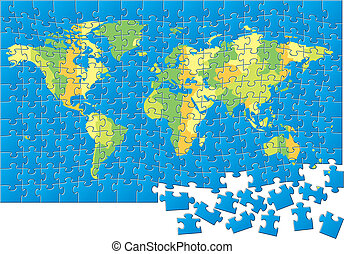 Weltkarten-Puzzle