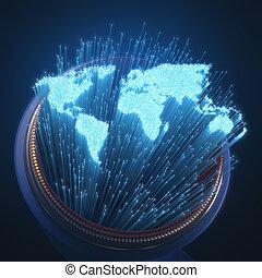 Weltoptische Fasern