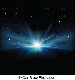 Weltraum-Hintergrund mit Sternen deaktivieren