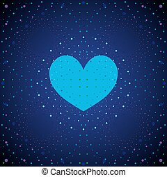 Weltraumblaues Herz.