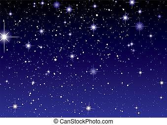 Weltraumblick, dunkler Sternenhimmel