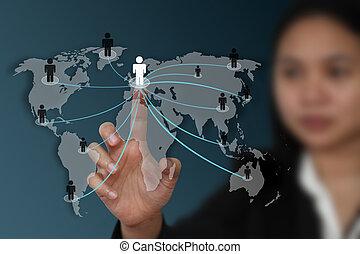 Weltsoziales Netzwerkkonzept