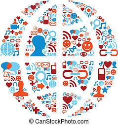 Weltsymbol für soziale Mediennetze