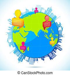 Weltweite menschliche Vernetzung