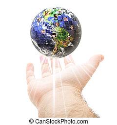 Weltweites globales Kommunikationskonzept