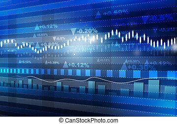 Weltwirtschaftsgraph. Aktienmarktdiagramm . Finanzkonzept