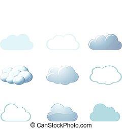 Wetter-Ikonen - Wolken