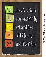 widmung, haltung, bildung, verantwortung, motivation