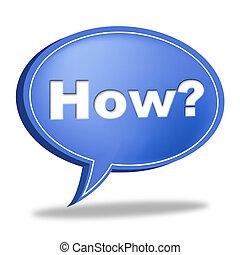 Wie die Frage zeigt häufig gestellte Fragen und Antworten.