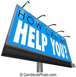 Wie können wir Ihnen helfen, Werbetexte Kundendienst att.