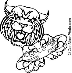 Wildcat Gamer Maskottchen.
