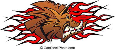 Wildschwein-Karikatur