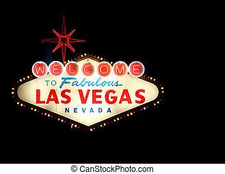 Willkommen bei Las Vegas neon