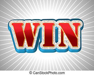 Win schreibt im großen Schriftstil