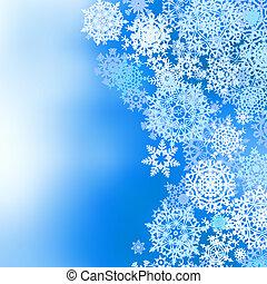 winter, gefrorenes, eps, snowflakes., hintergrund, 8