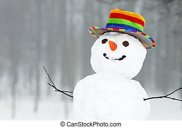 Winter lustiger Schneemann