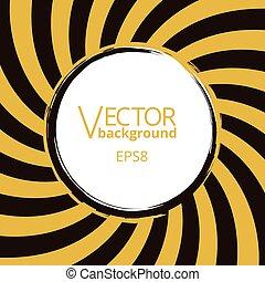 Wirbelnde radiale Vortex-Hintergrundlage mit rundem Leerraum für Text