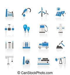 Wirtschafts- und Industrie-Ikonen