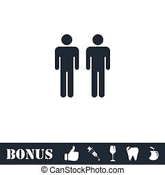 wohnung, gay, ikone