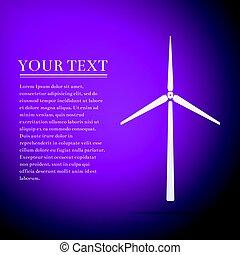 wohnung, generator, lila, abbildung, hintergrund., vektor, wind, ikone