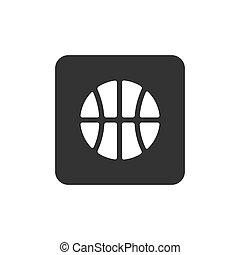 wohnung, ikone, basketball