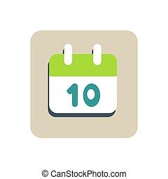 wohnung, kalender, ikone