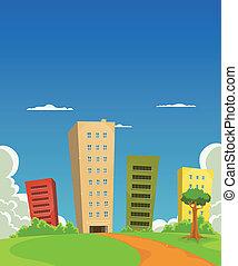 Wohnungen und Bürogebäude