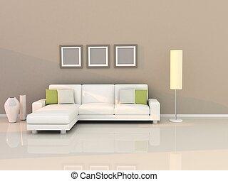 Wohnzimmer mit modernem Stil.
