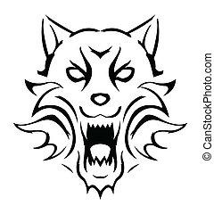 Wolfsvektor Illustration