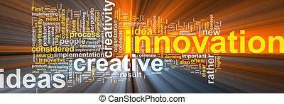 wolke, innovation, wort, glühen