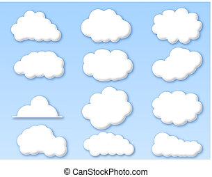 Wolken auf dem bewölkten blauen Himmel