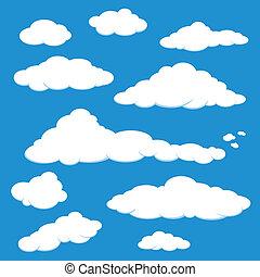 Wolkenblaue Himmelsvektor