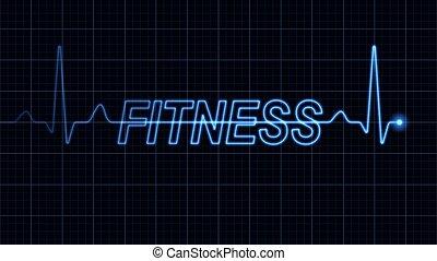wort, elektrokardiogramm, fitness