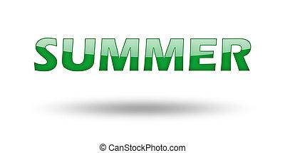 Wort Sommer mit grünen Buchstaben