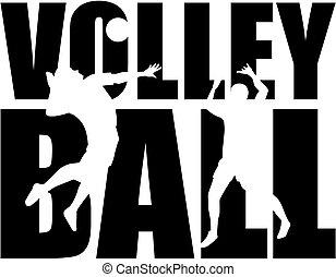 wort, volleyball, freisteller