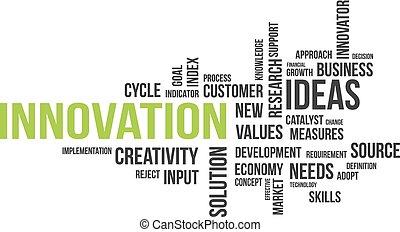 wort, -, wolke, innovation
