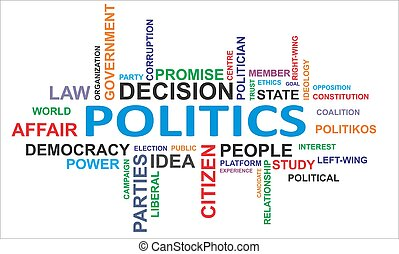 wort, -, wolke, politik