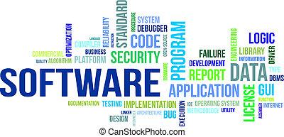 wort, -, wolke, software
