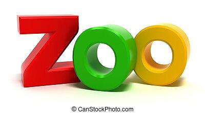 Wort Xoo mit bunten 3D-Briefen
